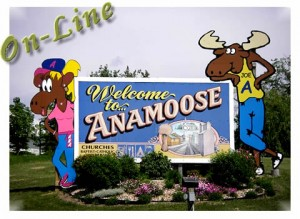 Anamoose City Sign