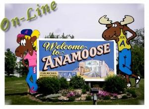 Anamoose City Sign